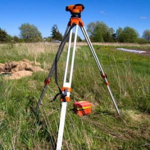 Топосъемка с целью геодезических измерений местности