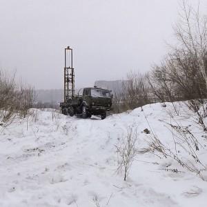 Геологические изыскания зима