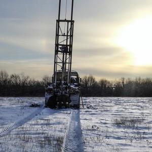 Геологические изыскания под дом зимой